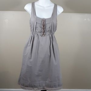 Anthropologie Maeve Oratory Gray Sundress Lace